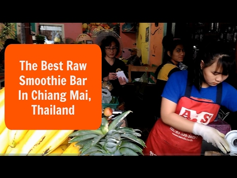 Raw Juice and Smoothie Bar in Chiang Mai, Thailand