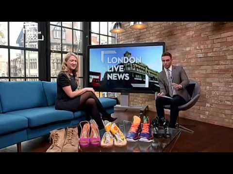 The Celebrity Shoe Auction 2016- Amy Hanson at London Live