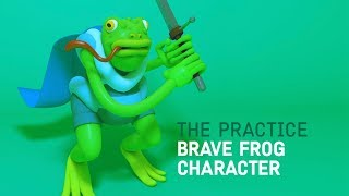 Model a Brave Frog Hero Character in Cinema 4d // The Practice 99 thumbnail