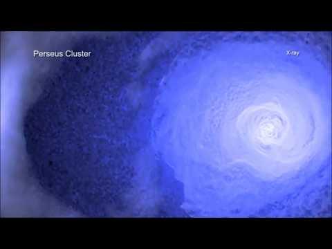 Une visite du front froid dans dans la galaxie de Perseus