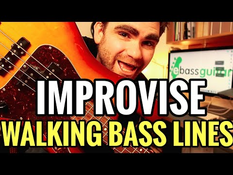 Learn To Improvise Walking Bass Lines In Less Than 5 Minutes (Using Moondance by Van Morrison)