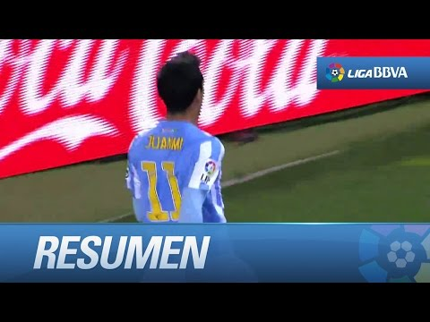 Resumen de Málaga CF (3-2) Getafe CF - YouTube