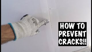 PRE-FILLING DRYWALL (HOW TO PREVENT CRACKS)