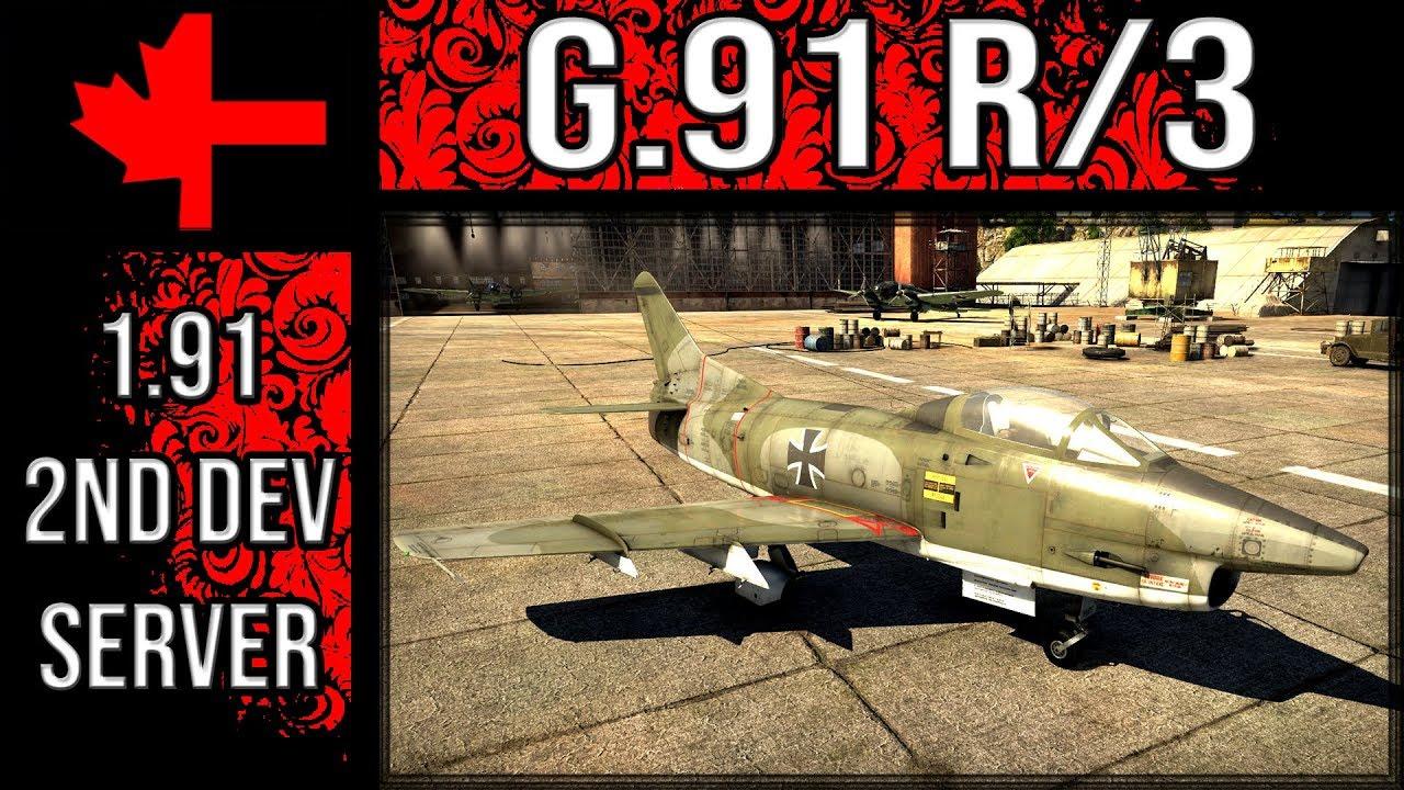 G 91 R/3 - Update 1 91 2ⁿᵈ Dev Server - War Thunder