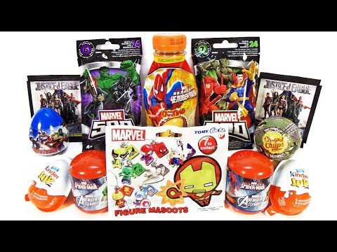 СУПЕРГЕРОИ MARVEL DC Mix СЮРПРИЗЫ, игрушки МСТИТЕЛИ, ЛИГА СПРАВЕДЛИВОСТИ Kinder Surprise unboxing
