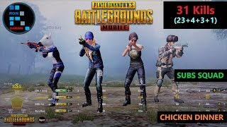 "[Hindi] PUBG MOBILE | ""23 KILLS"" AMAZING RUSH GAMEPLAY WITH CHICKEN DINNER"