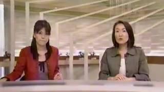 2010年12月の鹿島綾乃アナウンサーと小林巳記キャスター.