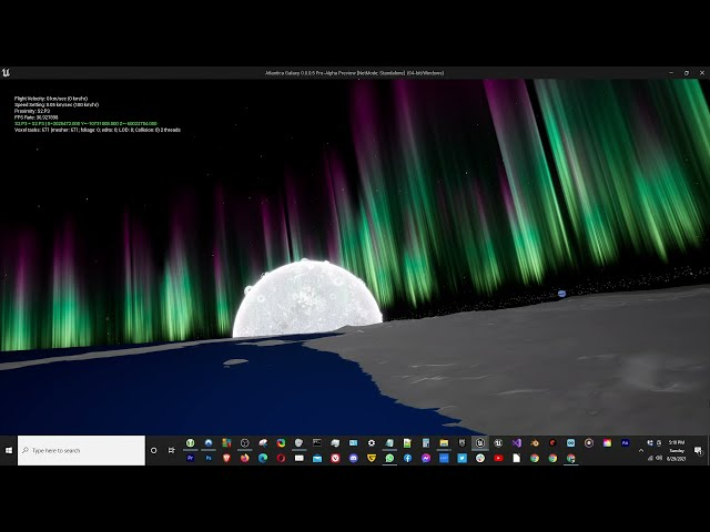 Aurora Borealis and Australis on Procedural Planets [Atlantica Galaxy]