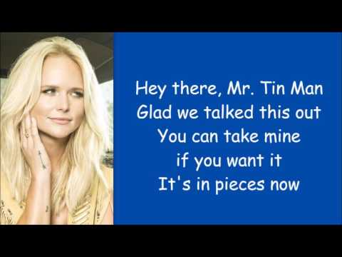 Miranda Lambert ~ Tin Man (Lyrics)