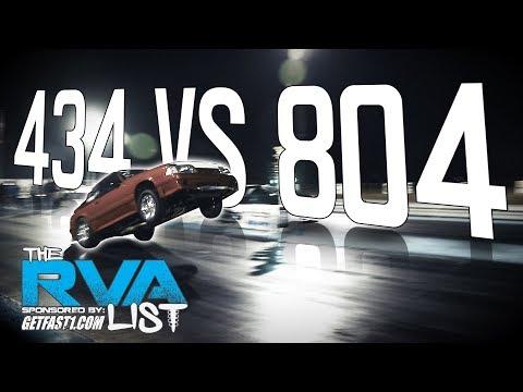 The RVA List 804 Vs 434 Drag Racing LSX & G-Body Shootout Richmond Dragway