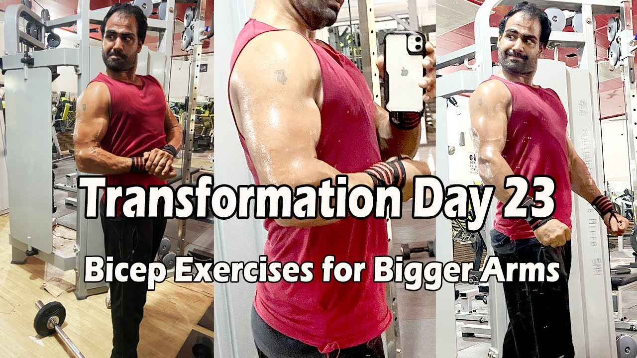 Download Transformation Day 23 | 5 Bicep Exercises for Bigger Arms