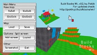 Build Blocks Wii (v 0.2) - 3D blocks sandbox game for Wii