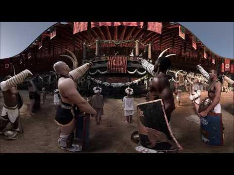 Гладиаторы в колизее древнего Рима 3D 360° 4K видео для VR очков TB