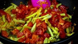 Спаржевая фасоль-очень вкусная закуска или теплый салат