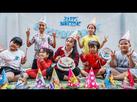 Kids Go To School | Chuns Birthday Friends Buy Birthday Cake Gift Doremon 2