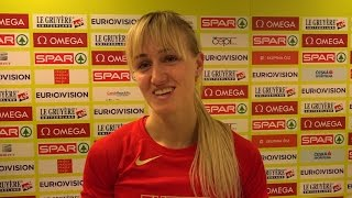 Нина Морозова - 60м с/б полуфинал, Прага 2015