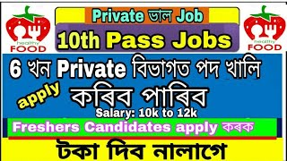 Private job in Various Sector in Assam || Company job in Assam | Sales job | Insurance job etc. √√√√