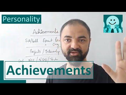 Achievements. List Your Biggest Achievements Interview Question