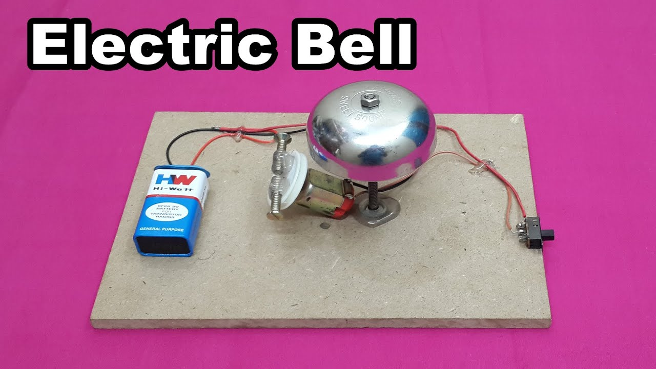 how to make a simple electric bell at home easy tutorials youtube electric motor diagram for kids 15 a simple electric motor [ 1280 x 720 Pixel ]