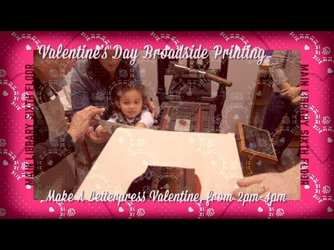 Make A Letterpress Valentine at the San Francisco Public Library