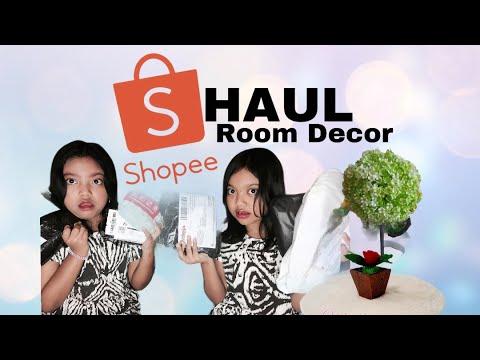 shopee haul room decor murah / dekorasi kamar - youtube