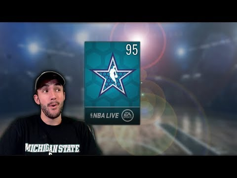 MY FIRST 95 OVR CARD WITHOUT SPENDING MONEY! NBA Live Mobile