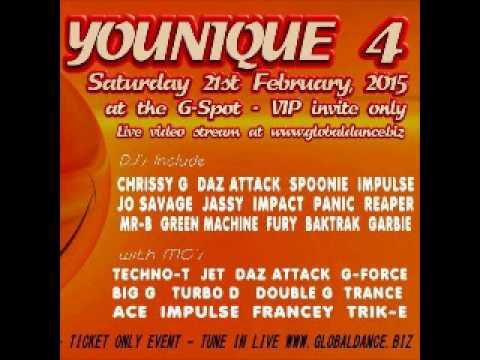 YOUNIQUE 21/2/2015 - DJ impulse Mcs Peanut-P, Turbo-D, Big-G, Ace, Trance