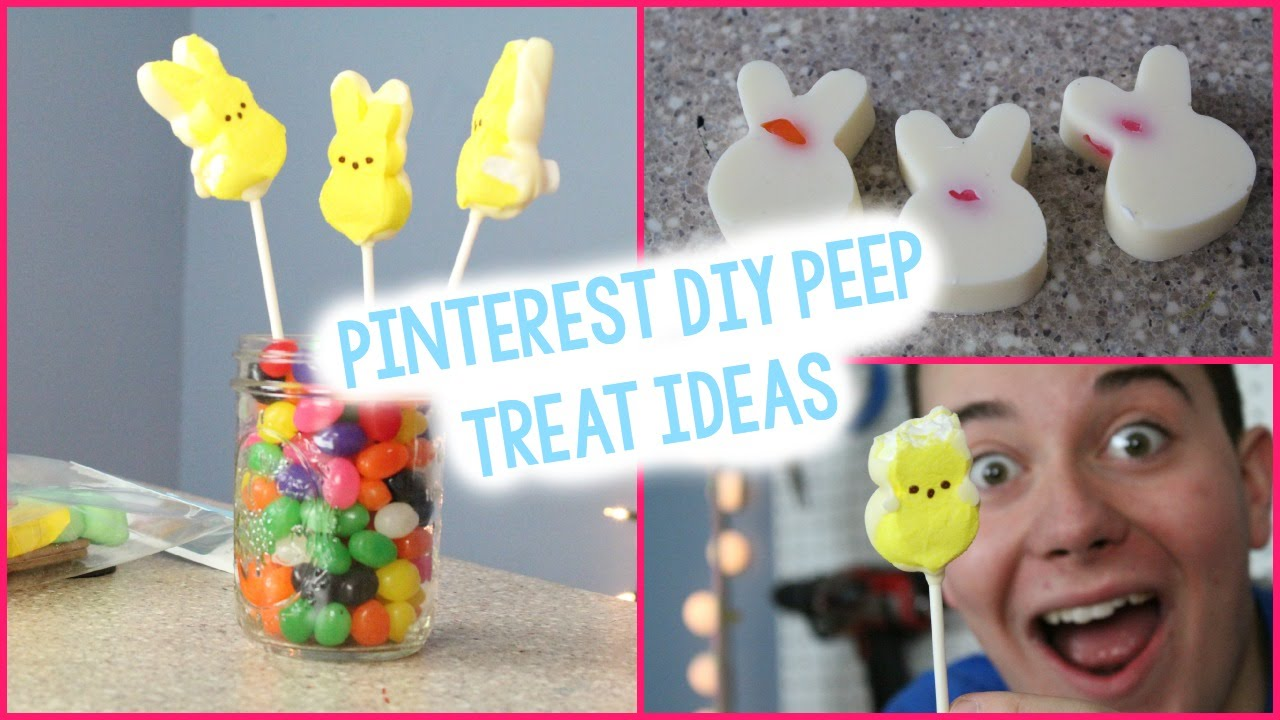 Diy Peep Inspired Treats Pinterest Inspired Easter Crafts Youtube