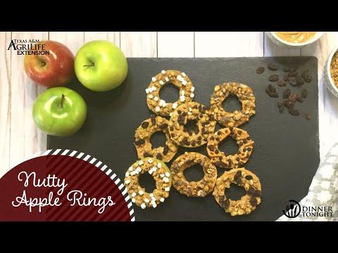 Nutty Apple Rings