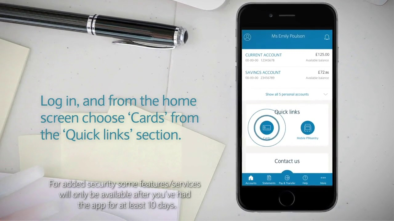The Barclays App How To View Your Pin Youtube