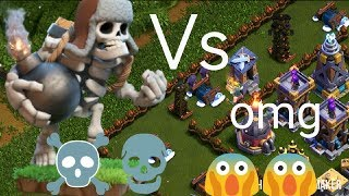 Giant skeleton Vs max defence||Builder base||coc