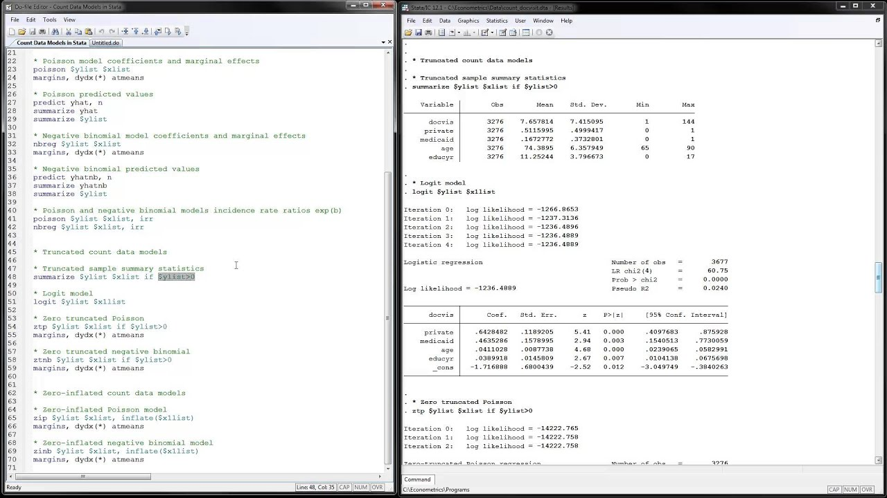 Count Data Models in Stata
