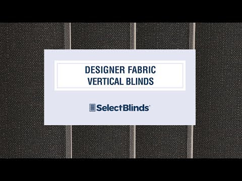 Designer Fabric Vertical Blinds from SelectBlinds.com