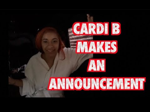 CARDI B ANNOUNCEMENT TO HATERS