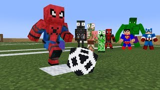 Monster School: Penalty Shootout - Zombie is the best goalkeeper :)) - Minecraft Animation