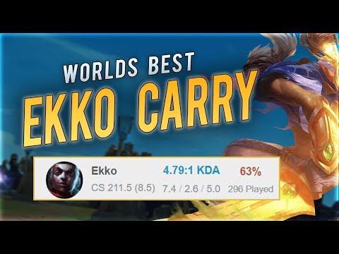 HOW TO 1v9 LIKE THE WORLDS BEST EKKO | #1 Ekko world review