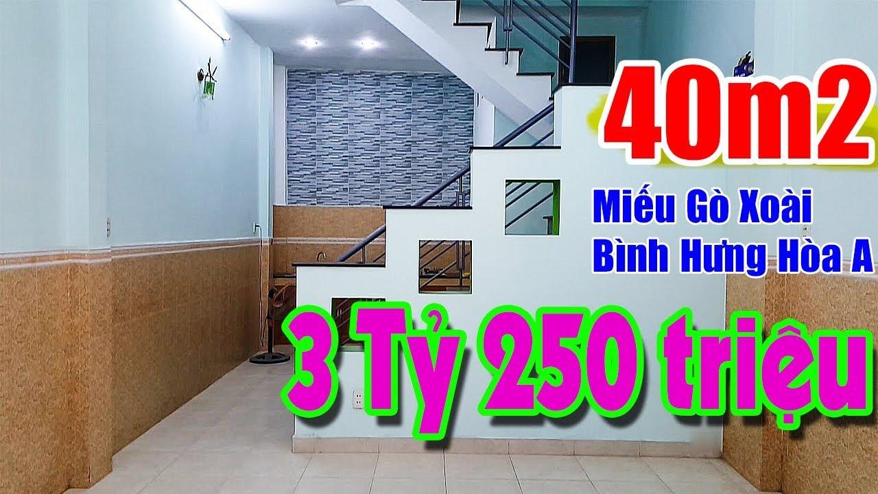 Bán Nhà Quận Bình Tân [GIÁ RẺ] 40m2, (1 trệt 1 lầu), Hẻm 4m – Hướng Đông- Miếu Gò Xoài