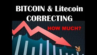 Bitcoin and Litecoin Technical Analysis - More Downside Potential - Price targets and Projections