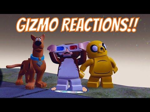 LEGO Dimensions Gizmo Reactions - Gizmo, Marceline, Supergirl, Aquaman, Stripe, Scooby Doo & more!