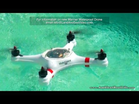 "The New ""MARINER"", Waterproof DRONE.. First water test flights in St Maarten, SXM, CARIBBEAN!"