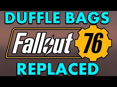 Bethesda FINALLY REPLACE Nylon Duffle Bags for Canvas Bags for Fallout 76's Power Armor Edition