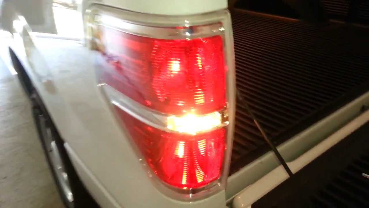 medium resolution of 2013 ford f 150 testing new tail light bulbs brake reverse turn signal youtube