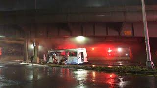 Brooklyn bus fire
