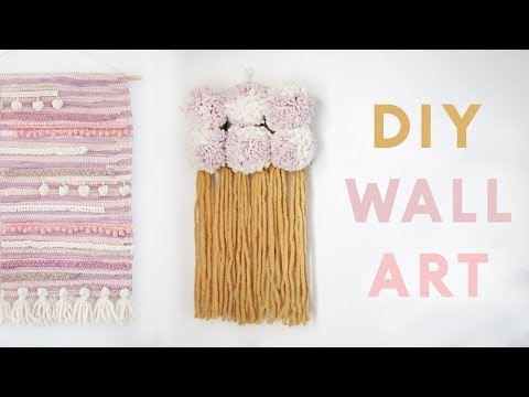 DIY Modern Wall Hangings | Easy DIY Wall Decor Projects for 2018
