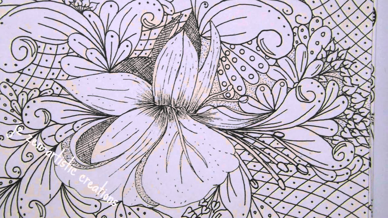 The 3Cs Doodle Zentangle Adult Coloring Book Floral Designs Vol1