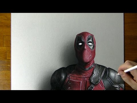 Deadpool Drawing – How to draw 3D Art
