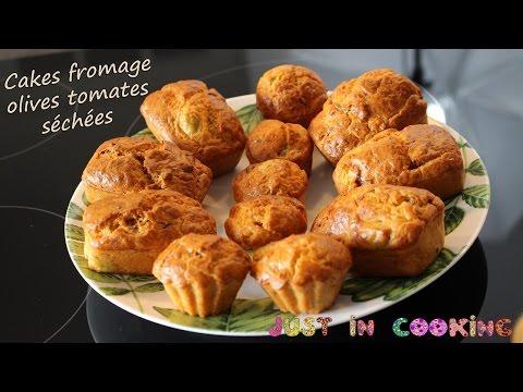 recette-de-cakes-salés-fromage-olives-et-tomates-séchées