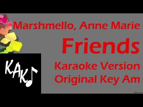 Marshmello - Marie Anne - FRIENDS Karaoke Cover Instrumental Lyrics Original Key Am