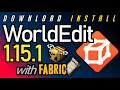 WORLD EDIT MOD 1.15.1 minecraft - how to download & install WorldEdit 1.15.1 with Fabric on Windows