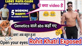 Rohit khatri fitness EXPOSED ||*Fake* Sport Science Nutritionist || कब तक ch#tiya बनाएगा तू लोगो को